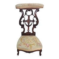 19th Century French Gothic Kneeler, Prayer Chair, Religious