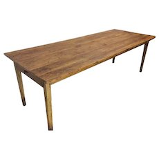 Primitive Antique French Farm Table, Pine, 19th Century