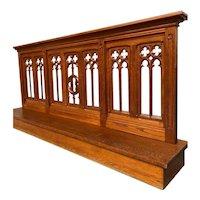 Antique French Gothic Altar Railing Prayer Kneeler, Religious