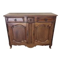 Nice French Walnut Server, Clean Lines, Smaller Side, 1920's