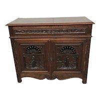 Antique French Breton Server, Sideboard, Oak, 19th Century