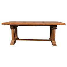 Attractive Antique French Dining Table, Solid Oak, 1920's, Rustic