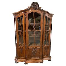 Lovely Antique French Louis XV Cabinet / Bookcase, 1920's