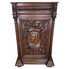 Antique French Renaissance, Art Nouveau Cabinet, 1920's, Oak