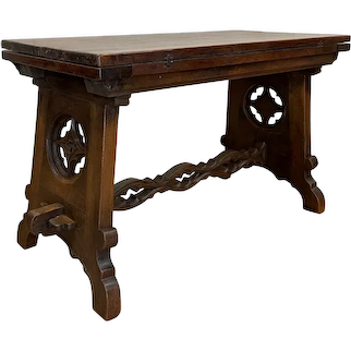 Tavern Table, Antique French Gothic Table, 19th Century, Oak