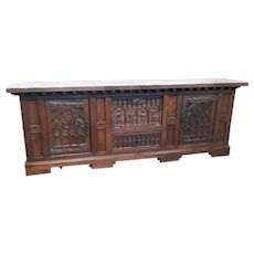 Nice Medieval Antique French Gothic Server, Sideboard, 1920's Oak