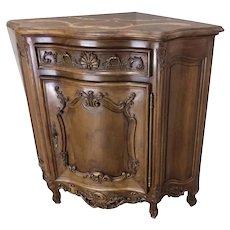 Corner Cabinet,  Charming Antique French Corner Cabinet, 1920's Walnut