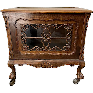 Unique and Attractive French Cabinet, Bar Cabinet, Oak, 1920's