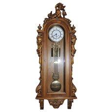 Vintage Italian Wall Clock With Three Cherubs In Baroque Design Lovely Model