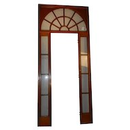 "Interior French Door Surround, Sidelights and Transom 100"" Tall, c1910 Antique"