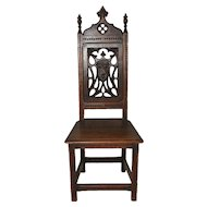 Antique French Gothic Chair, Exquisite Carved Detail, Oak, Late 19th Century