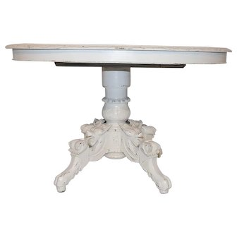 Fabulous 19th Century French Hunt Table with Amazing Custom Painted Finish