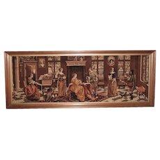 Vintage Long Woven Cloth Panel, Circa 1940's