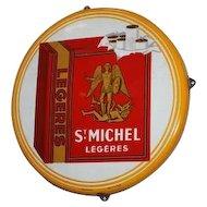 "Vintage Belgium Cigarette Advertisement, 26"" Round 1950s"