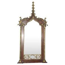 Gothic Mirror Mahogany Gold Accents Tall, Impressive & BEAUTIFUL