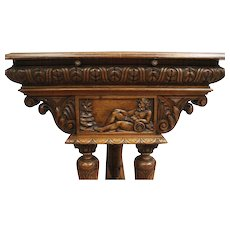 One of a Kind Antique French Renaissance Desk, Wonderful Detail, 19th Century, Large Model