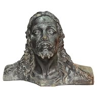 Nice Quality Bronze Bust of Christ, 1920's