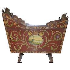 Dutch Cradle BEAUTIFUL Original Painted Art Lovely Piece All Original