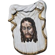Vintage Religious Vale of Christ French Gothic BEAUTIFUL Painted Plaster