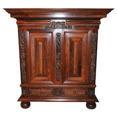 Antique Dutch Pillow Cabinet in Rosewood & Walnut Functional & BEAUTIFUL