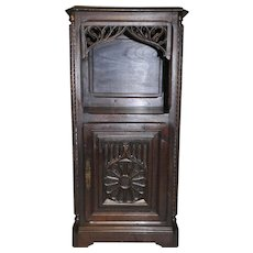 Antique French Gothic Cabinet Occasional, Lamp Table or Night Stand