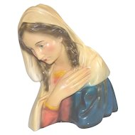 Attractive French Madonna Statue, Plaster