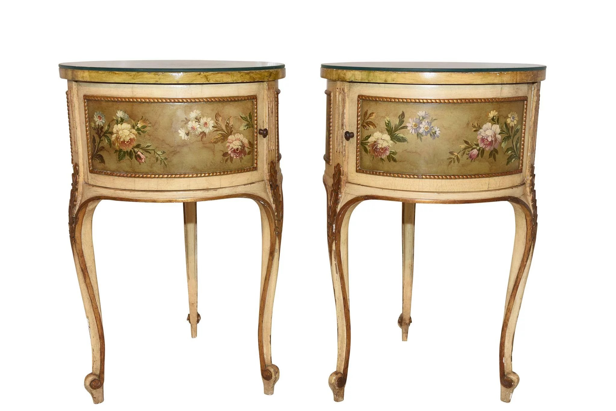 BEAUTIFUL Vintage French Hand Painted Italian Baroque ...