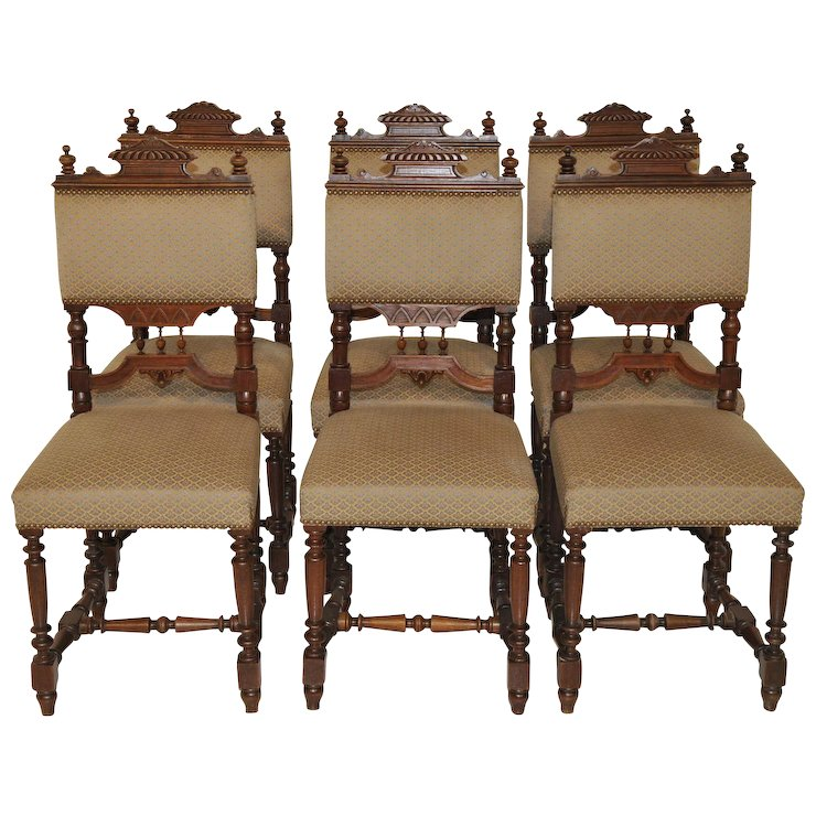 Bon Antique French Victorian, Henri II Dining Side Chairs Matching Set Great  Model And Comfortable