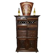 Rare Antique French Hunt Office Cabinet , Engineer/ Geologist Cabinet, or Great Wine Cabinet, 1890's