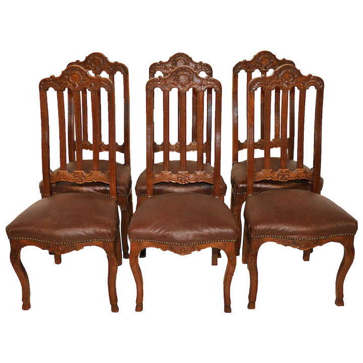 Incredible Vintage French Provincial Dining Room Chairs Set Of Six Ocoug Best Dining Table And Chair Ideas Images Ocougorg