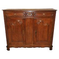 Antique French Country Normandy Server or Cabinet, Attractive Clean Lines, Turn of the Century