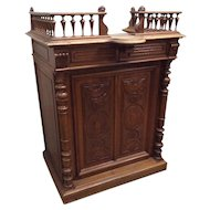 Antique French Oak Cashiers / Reception Counter, Turn of the Century