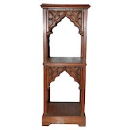 Antique French Gothic Pedestal, Oak, 19th Century