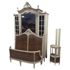 Special French Louis XV Painted Bedroom, Original Paint