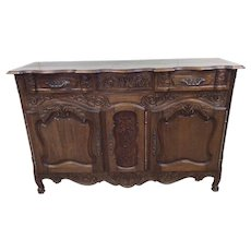 Charming French Country Server or Buffet in Oak, 1920's