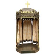Antique French Gothic Religious Chapel, Laus, Gloria, Honor, Turn of the Century