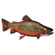 Beautifully Painted Wooden Brook Trout