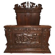 Superb Antique French Renaissance Bed or Day Bed, Incredible Carvings, Walnut, Circa 1880