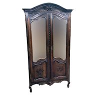 Lovely  French Bridal Armoire, Oak, 1920's