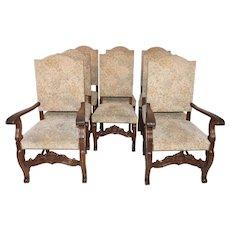 Set of 8 Vintage Bruegel Dining Room Chairs, Oak