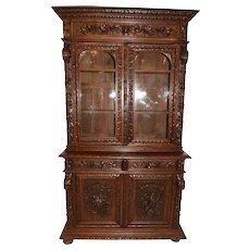 Wonderful Antique French Hunt Cabinet, Oak, 19th Century