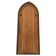 Impressive French Gothic Church Door, Clean Lines, Oak, 1900-1920's