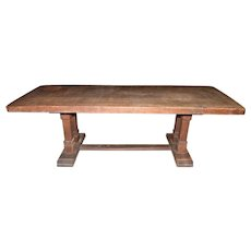 Solid Oak Antique French Monastery Table, Rustic, 19th Century