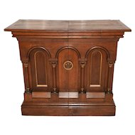 Antique French Gothic Religious Side Altar, Lovely with Clean Lines