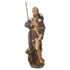 Large & Impressive Saint Roche, Terracotta, Turn of Century