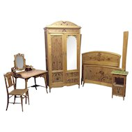 Outstanding 5 piece French Art Nouveau Bedroom
