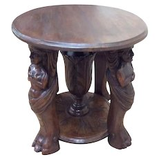 Antique French Renaissance Coffee Table, Centaur Carvings