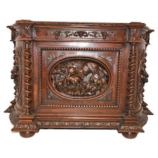 Extraordinary Antique French Hunt Server or Sideboard, 19th Century
