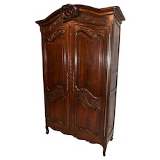 Dazzling French Normandy Armoire, Nice Patina, 1920's
