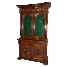 Antique French Hunt Cabinet, Gun Cabinet, 19th Century, Oak